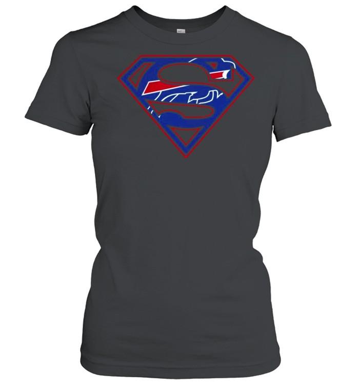 Buffalo Bills Raiders Superman 2021 shirt Classic Women's T-shirt