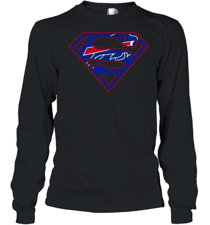 Buffalo Bills Raiders Superman 2021 shirt Long Sleeved T-shirt