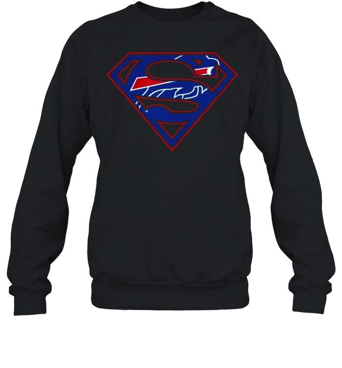 Buffalo Bills Raiders Superman 2021 shirt Unisex Sweatshirt