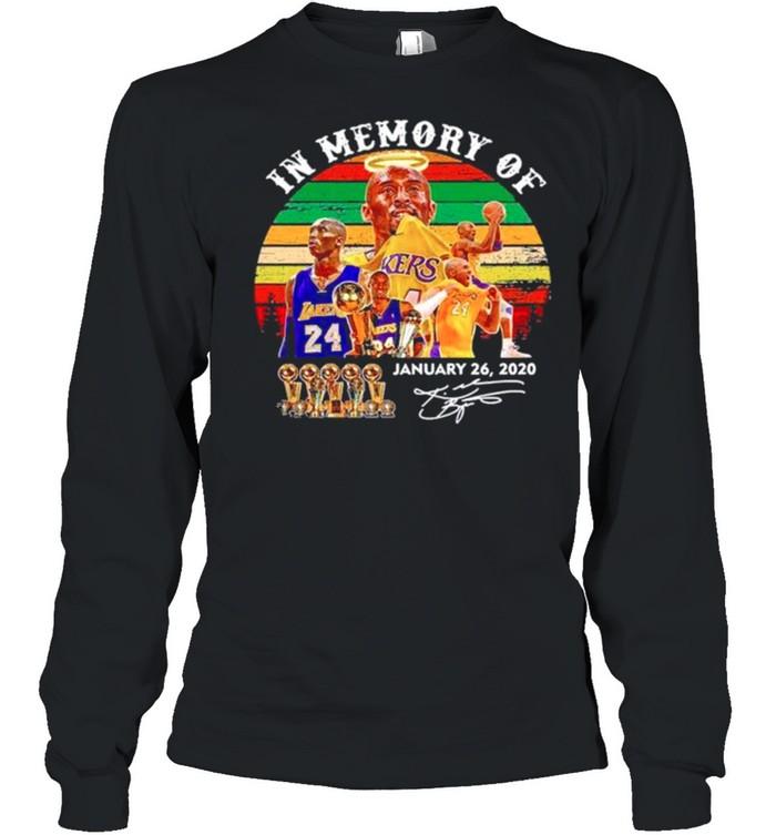 In memory of Kobe Bryant january 26 2021 signature vintage shirt Long Sleeved T-shirt