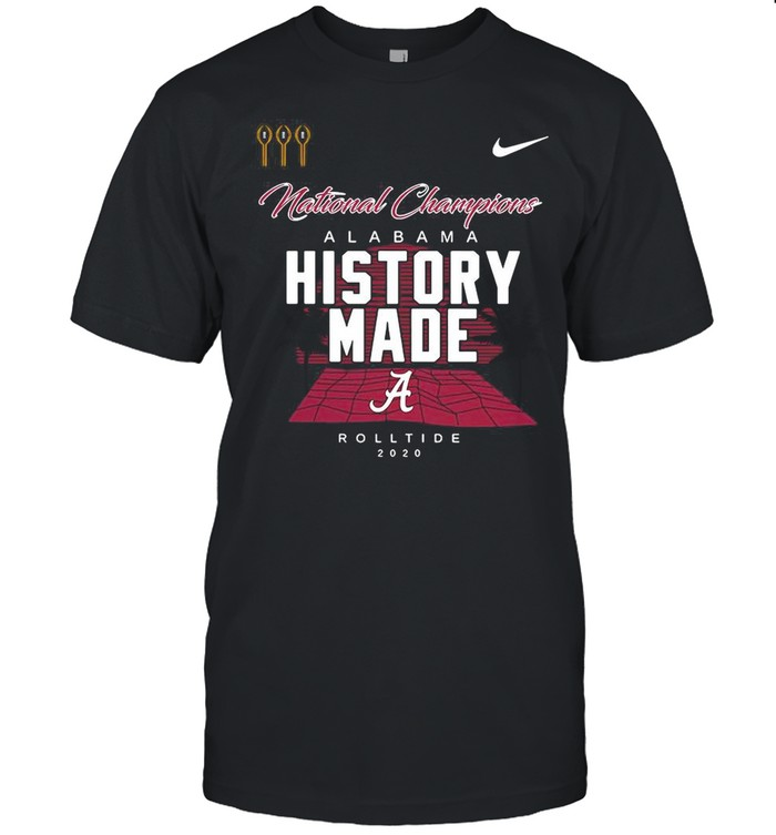Alabama Roll Tide Script A History Made National Champions Locker Room shirt Classic Men's T-shirt