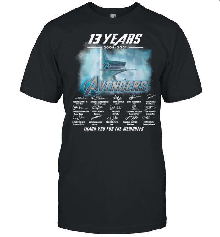 13 Years 2008 2021 Of The Avengers Signatures Thanks For The Memories shirt Classic Men's T-shirt