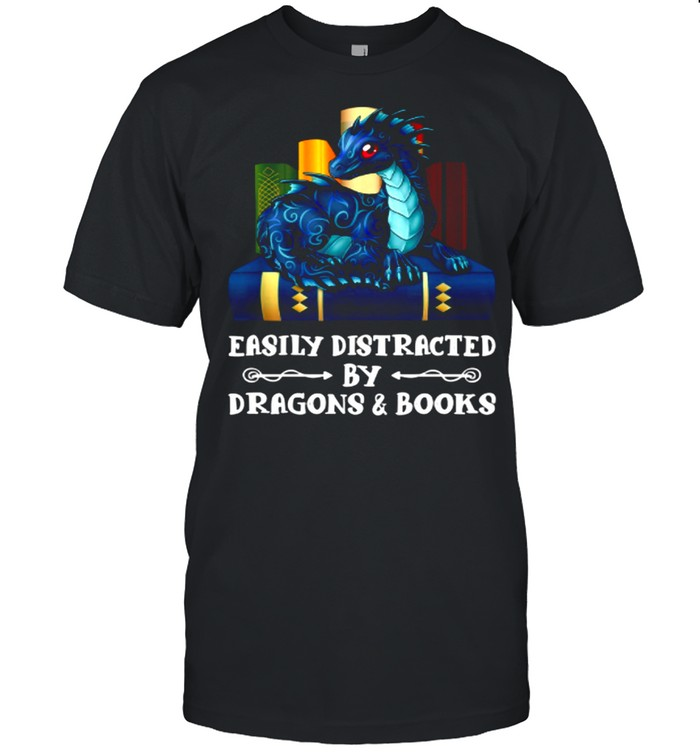 Easily Distracted By Dragons and Books shirt Classic Men's T-shirt