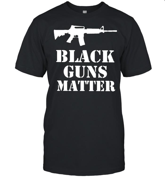 Black guns matter shirt Classic Men's T-shirt