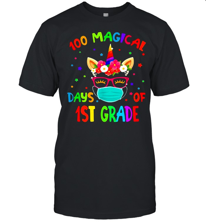 100 Magical Days Of 1St Grade Unicorn  Classic Men's T-shirt