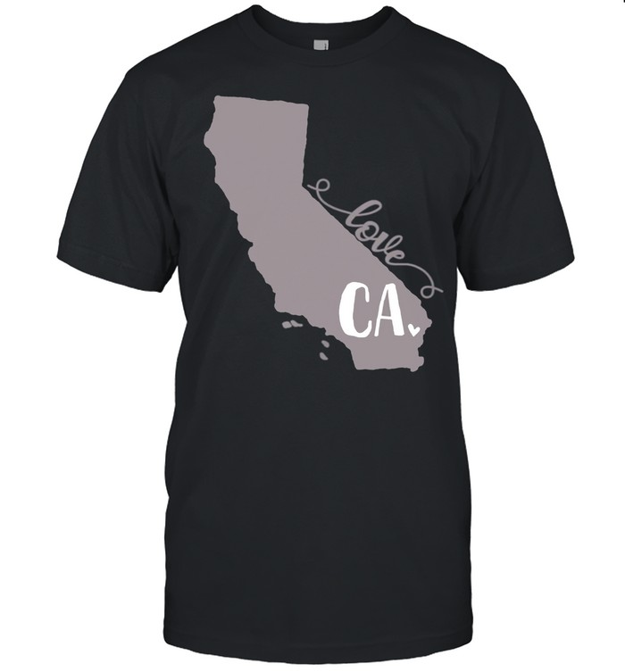 California Heart Love Script Design shirt Classic Men's T-shirt
