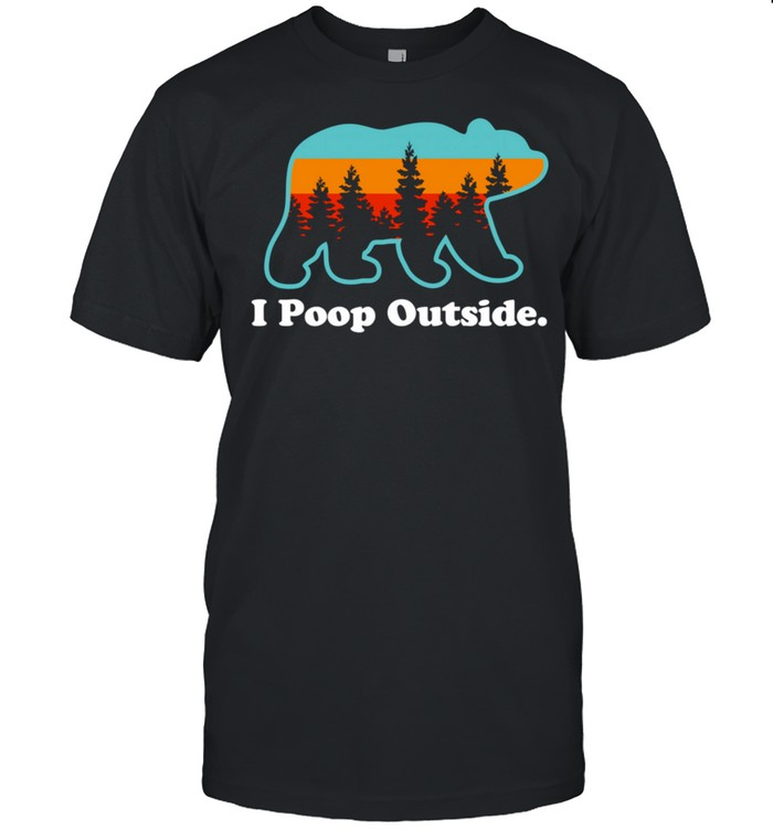 Camping for Outdoorsman I Poop Outside shirt Classic Men's T-shirt
