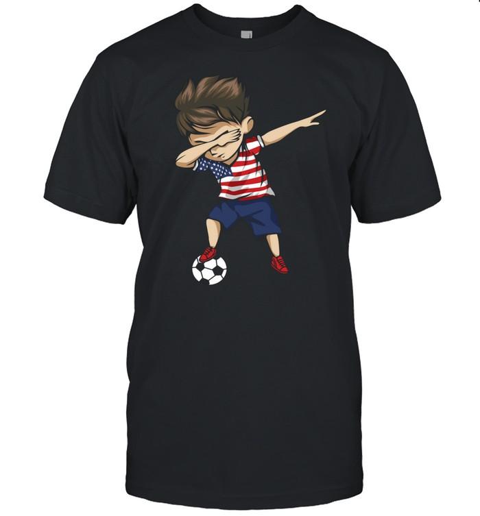 Dabbing Soccer Boy United States Jersey USA Football shirt Classic Men's T-shirt