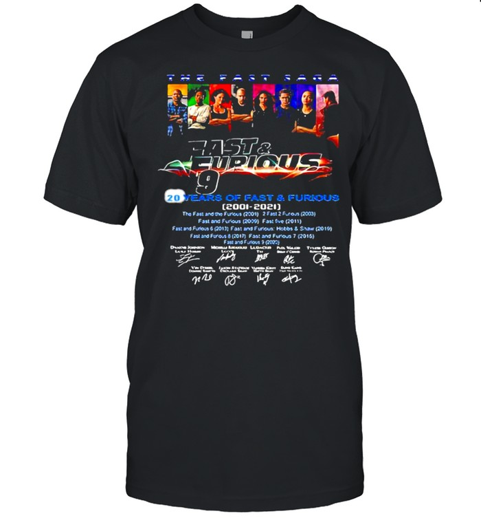 Fast And Furious 20 Years Of 2001 2021 Signature  Classic Men's T-shirt