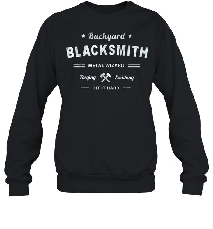 Vintage Backyard Blacksmith Forging Metal Wizard Workwear shirt Unisex Sweatshirt