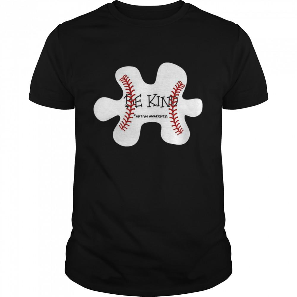 Autism Baseball Be Kind #autism Awareness shirt Classic Men's T-shirt