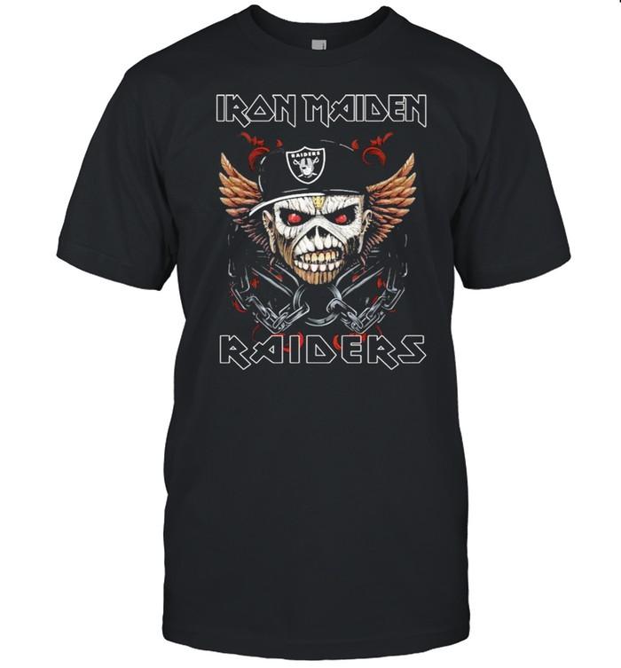 Iron Maiden Skull Oakland Raiders shirt Classic Men's T-shirt