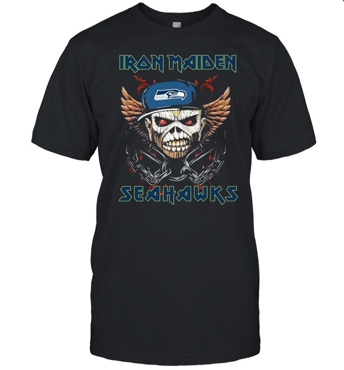 Iron Maiden Skull Seattle Seahawks shirt Classic Men's T-shirt