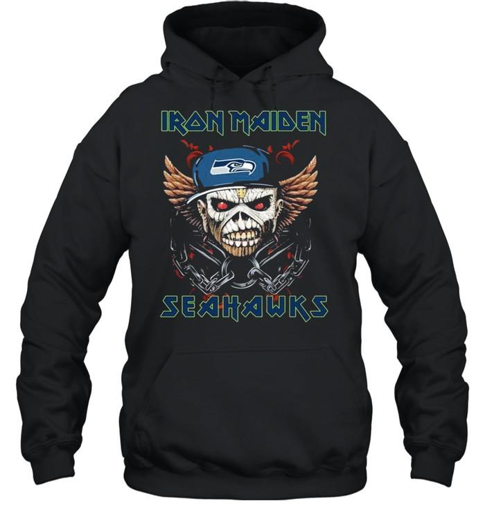 Iron Maiden Skull Seattle Seahawks shirt Unisex Hoodie