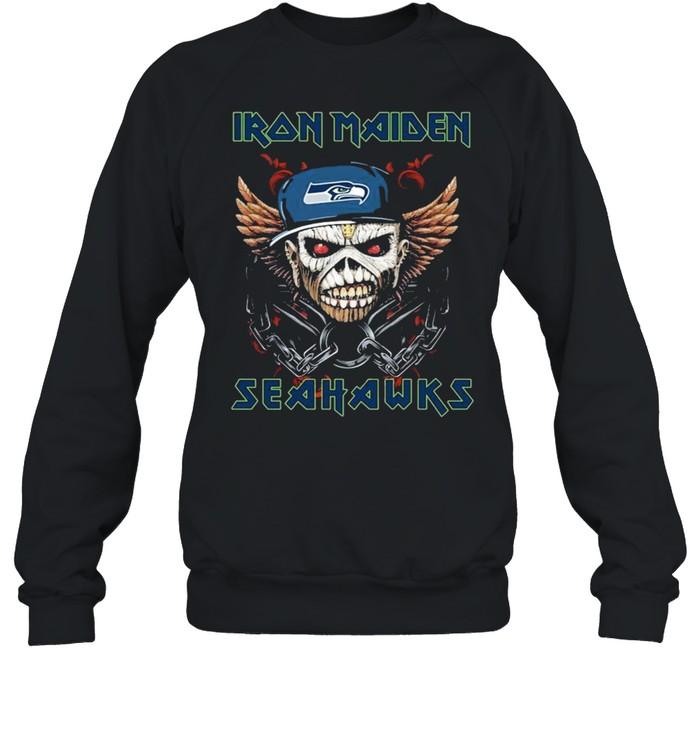Iron Maiden Skull Seattle Seahawks shirt Unisex Sweatshirt