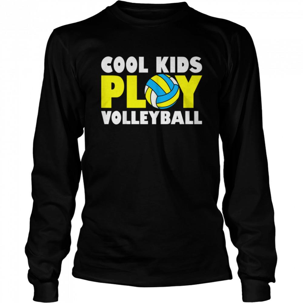 Kids Play Volleyball shirt Long Sleeved T-shirt