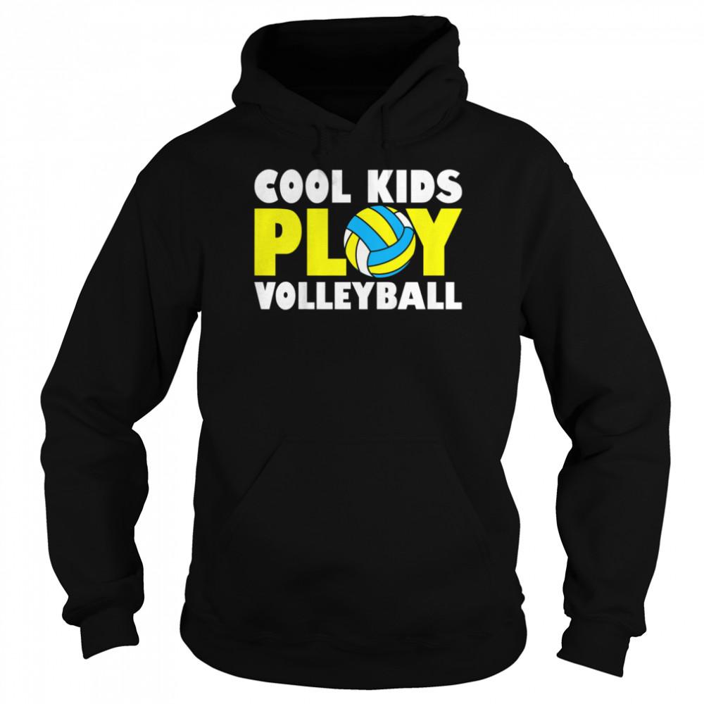 Kids Play Volleyball shirt Unisex Hoodie
