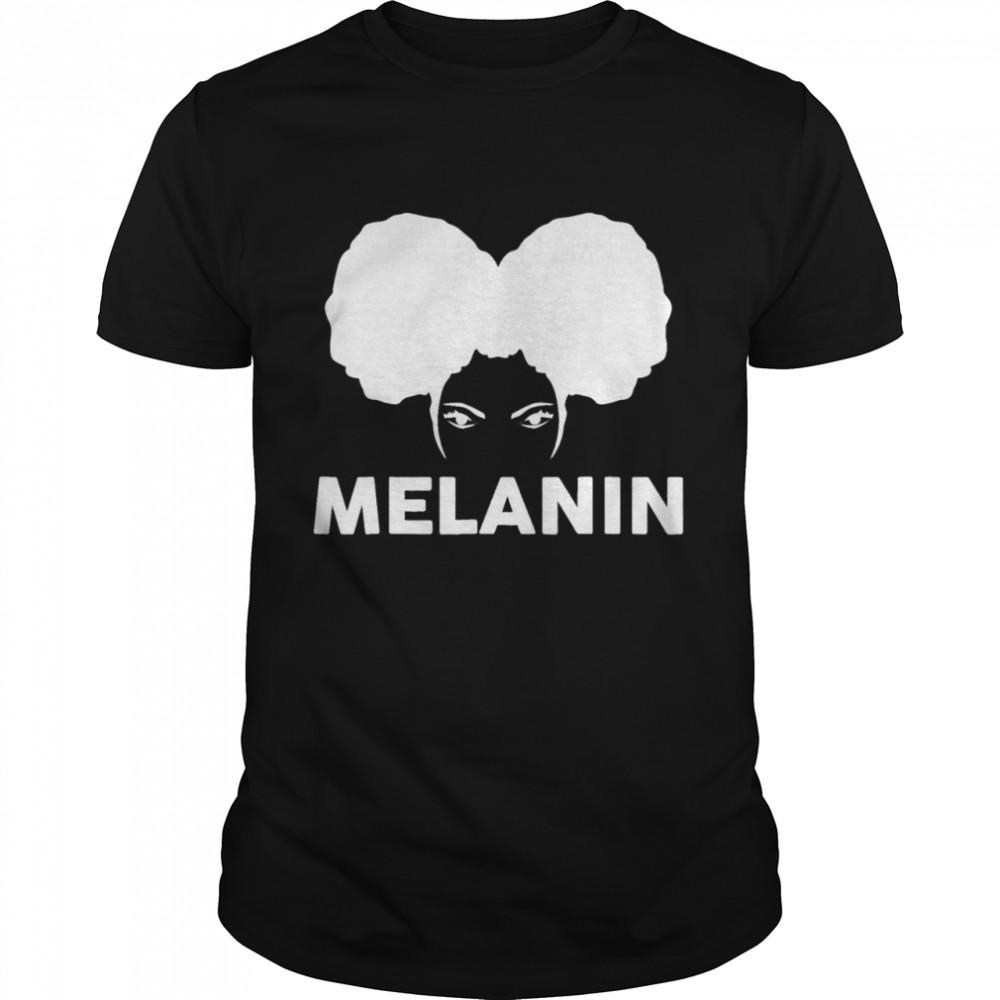 Melanin Poppin Black Girl Magic Natural Afro Puff Queen shirt Classic Men's T-shirt