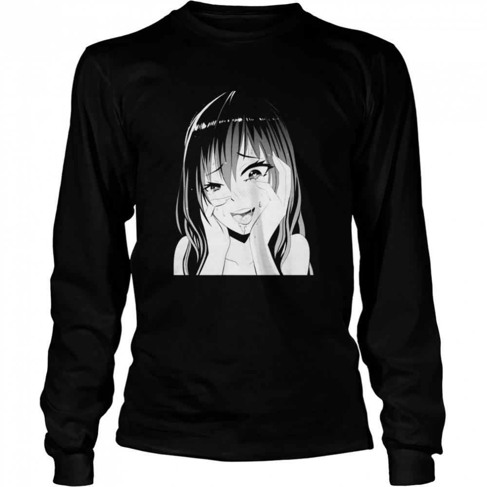 Perfect pretty and shy japanese manga girl shirt Long Sleeved T-shirt