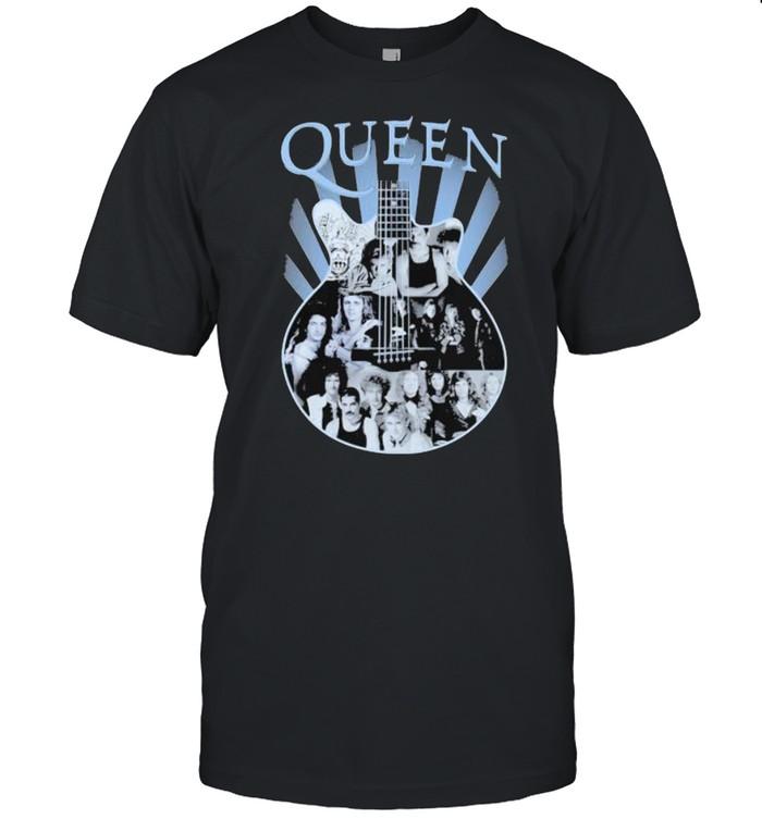 Queen Band Music Guitar  Classic Men's T-shirt