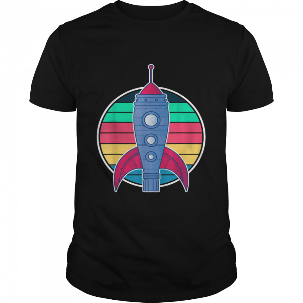 Rocket Space Travel Future Cosmonaut Retro Astronaut shirt Classic Men's T-shirt