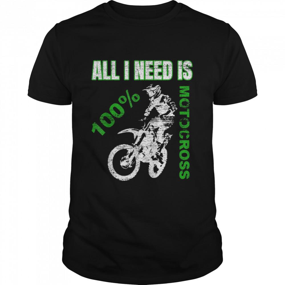 Vintage Motocross Dirt Bike Racing Father`s Dad shirt Classic Men's T-shirt