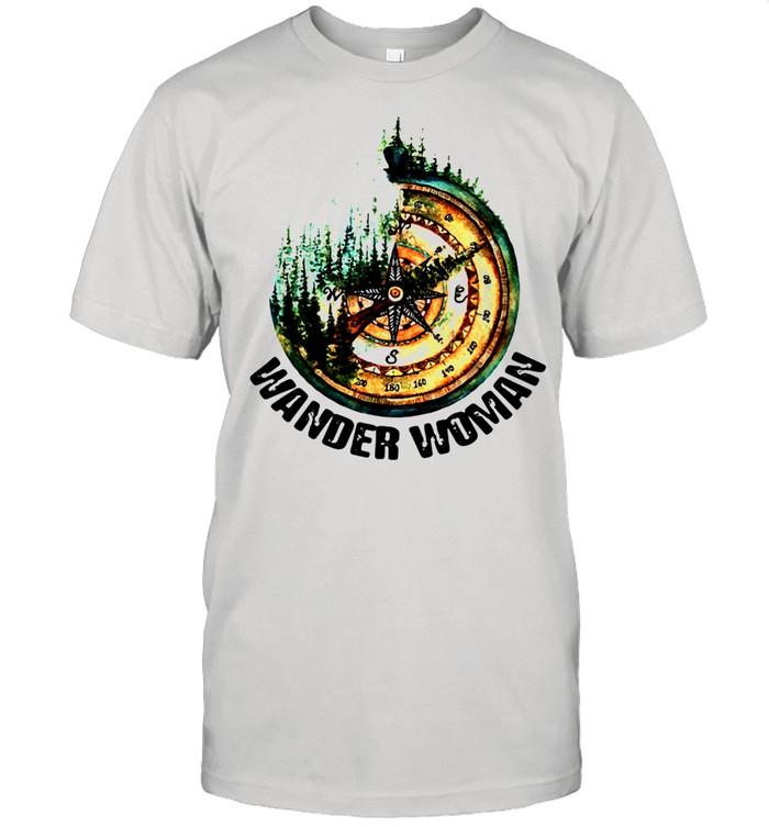 Wander Woman Hiking Compass  Classic Men's T-shirt
