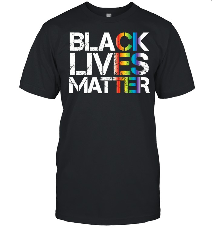 Black Lives Matter LGBT Rainbow Version Gay Pride BLM shirt Classic Men's T-shirt