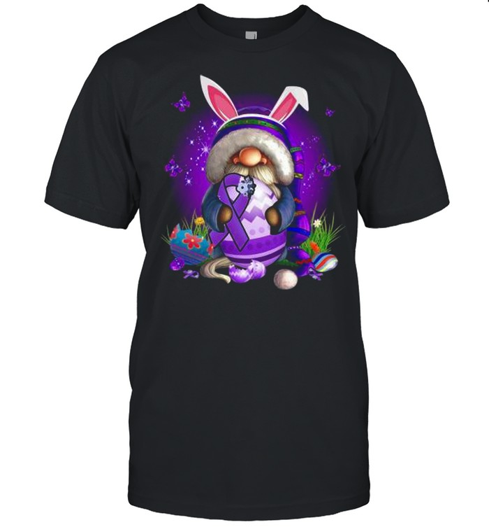 Bunny Gnome Hug Purple Lupus Awareness Happy Easter 2021 shirt Classic Men's T-shirt