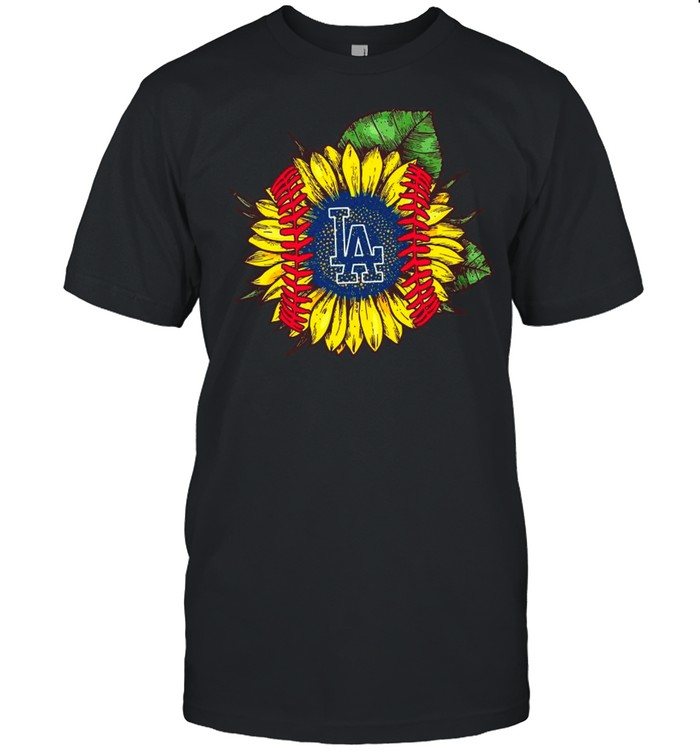 Los Angeles With Sunflower Baseball shirt Classic Men's T-shirt