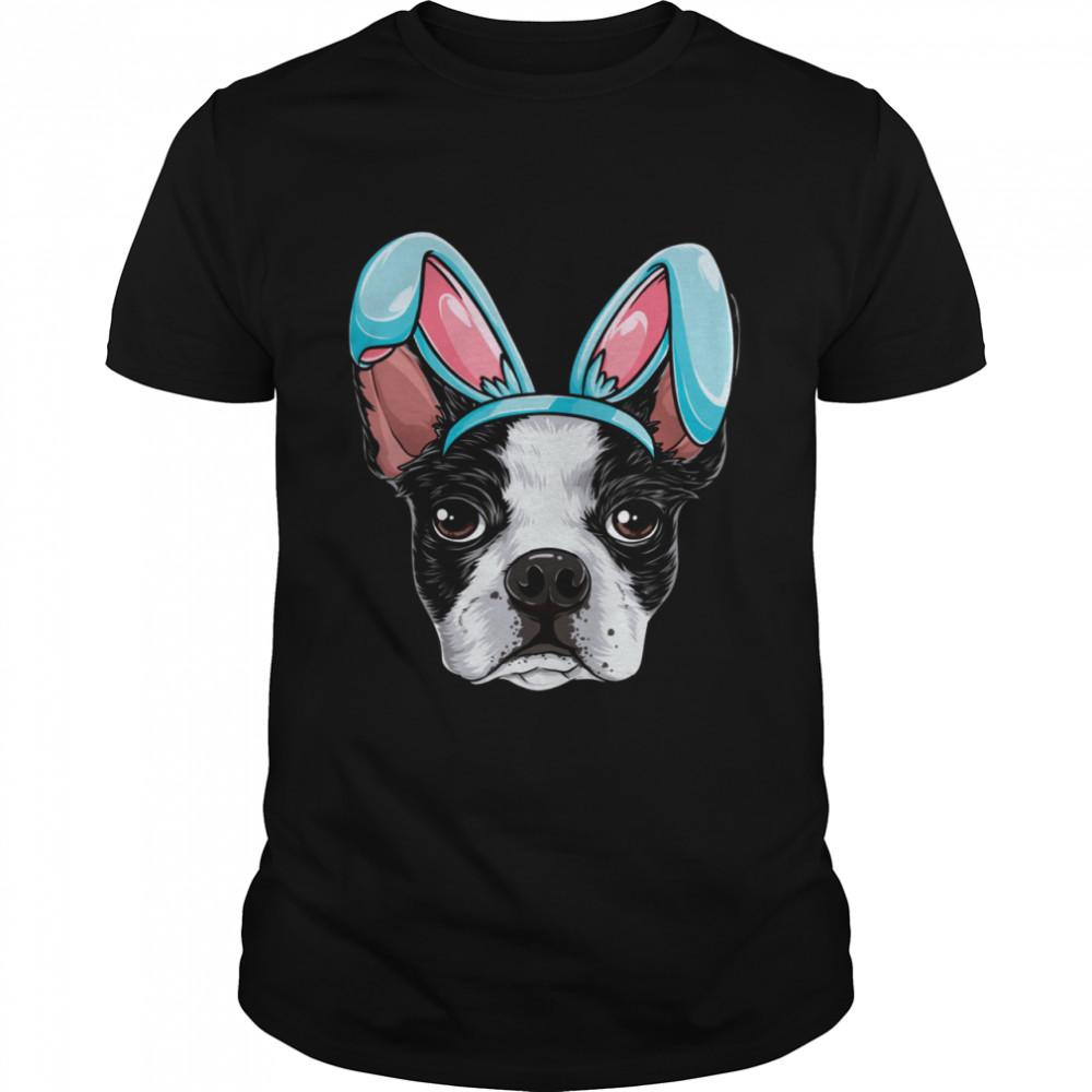 Boston Terrier Easter Bunny Ears Dog shirt Classic Men's T-shirt