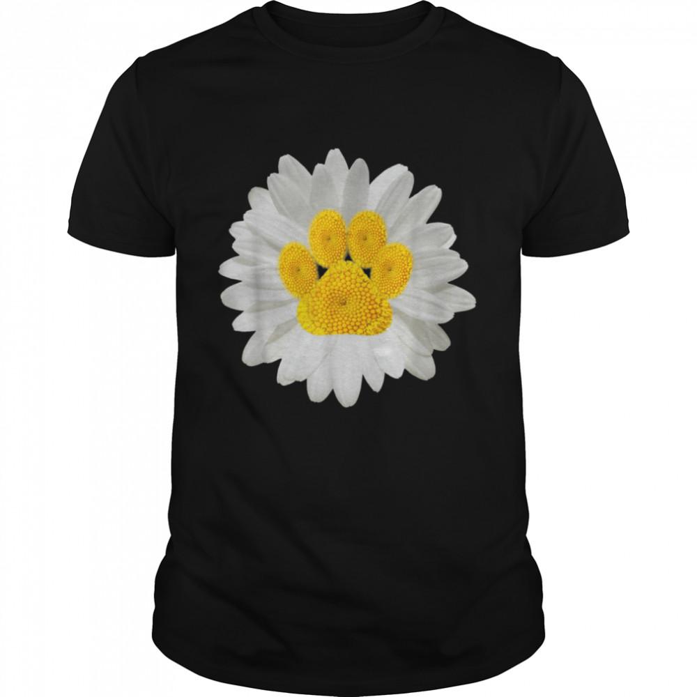 Daisy Dog Paw Print Hippie Puppy Pet Cool Animal shirt Classic Men's T-shirt
