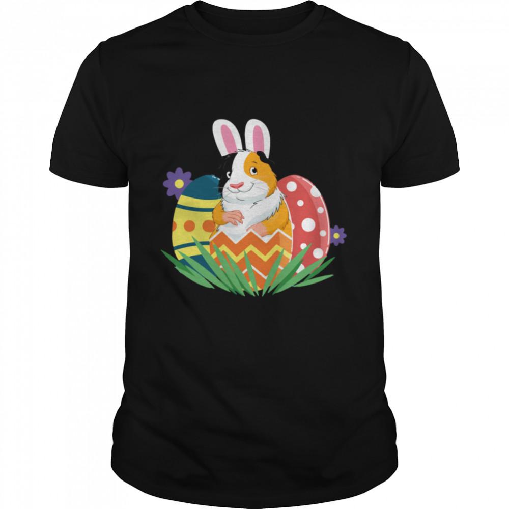 Guinea Pig Bunny Ears Eggs Easter Day shirt Classic Men's T-shirt