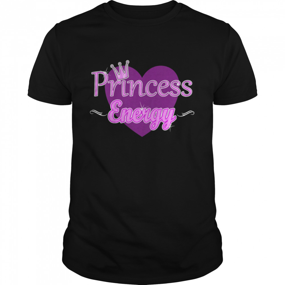 Kids Princess Energy Girls Cute Heart Royal Crown Elegant shirt Classic Men's T-shirt