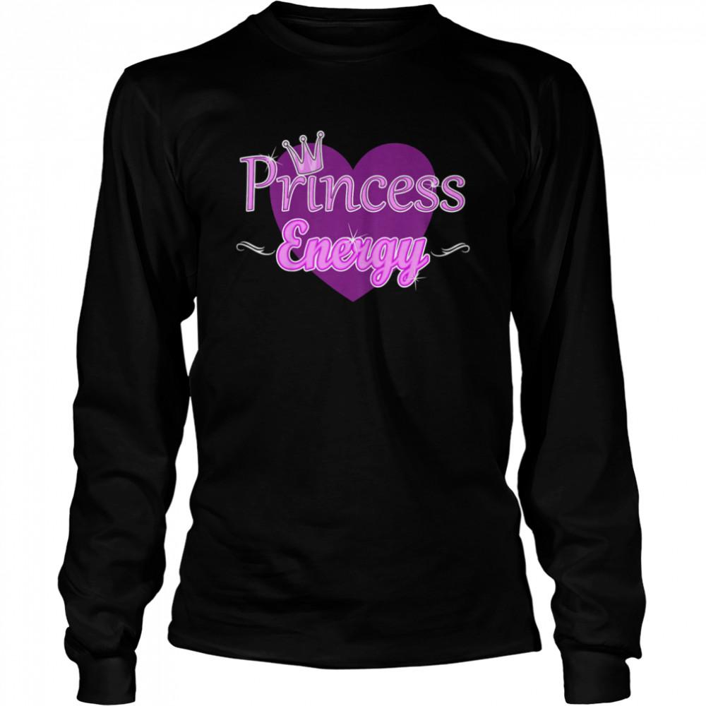Kids Princess Energy Girls Cute Heart Royal Crown Elegant shirt Long Sleeved T-shirt