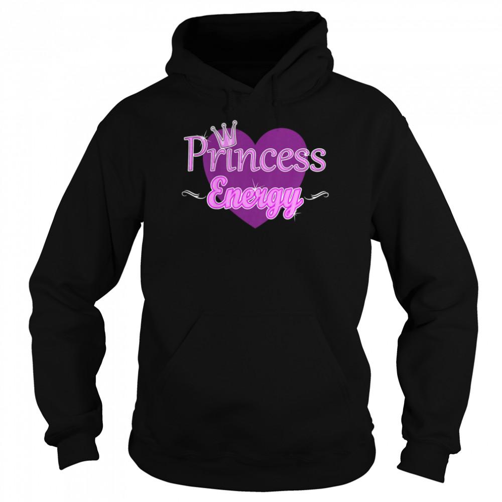 Kids Princess Energy Girls Cute Heart Royal Crown Elegant shirt Unisex Hoodie