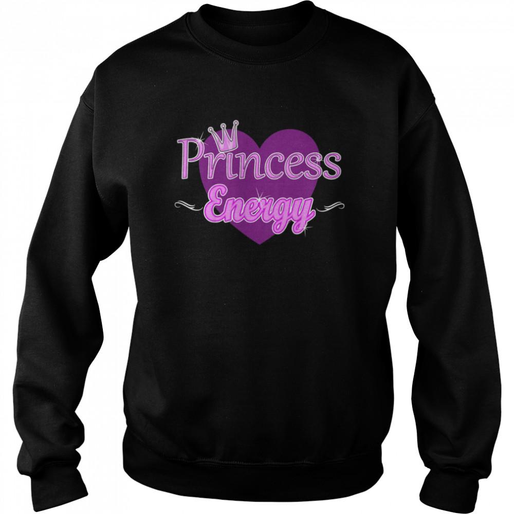 Kids Princess Energy Girls Cute Heart Royal Crown Elegant shirt Unisex Sweatshirt