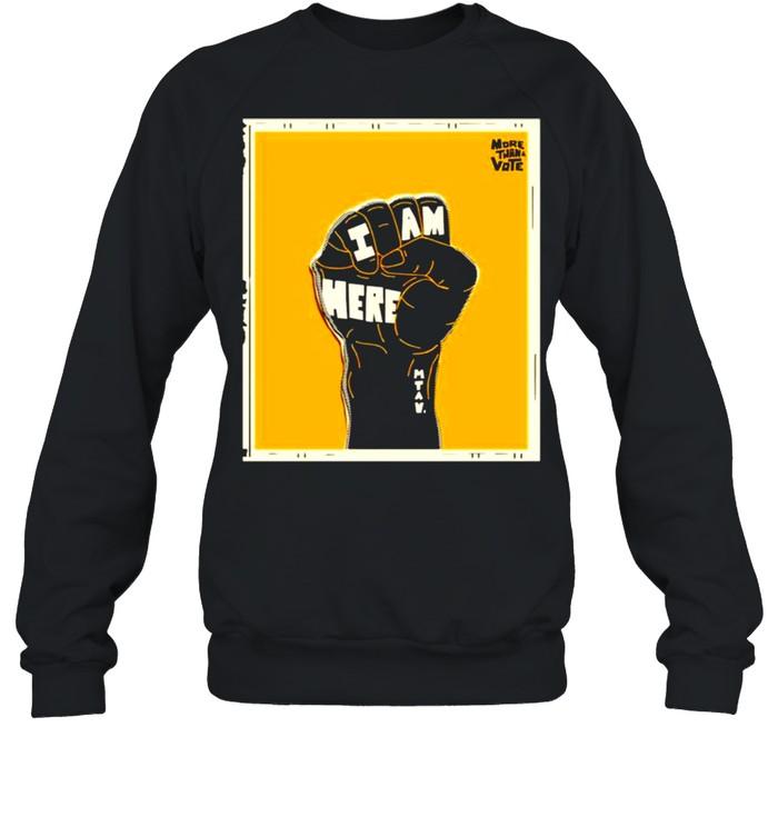 Lebron James more than a vote I am here shirt Unisex Sweatshirt