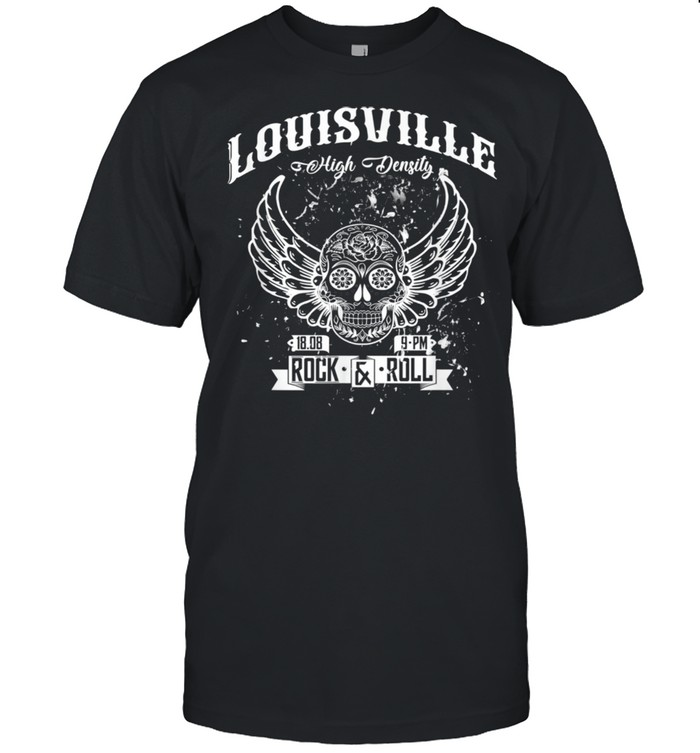 Louisville HighDensity Rock'n'Roll Winged Skull shirt Classic Men's T-shirt