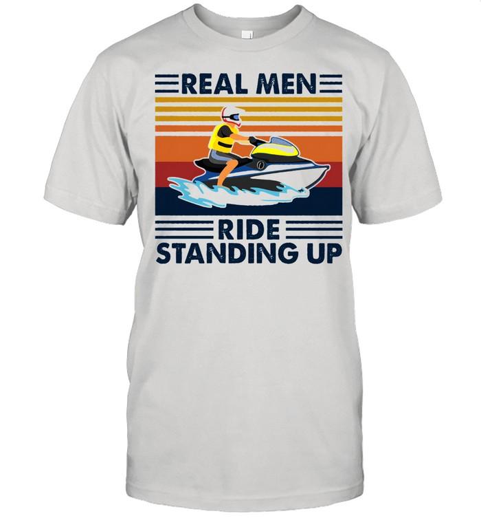 Real men ride standing up vintage shirt Classic Men's T-shirt