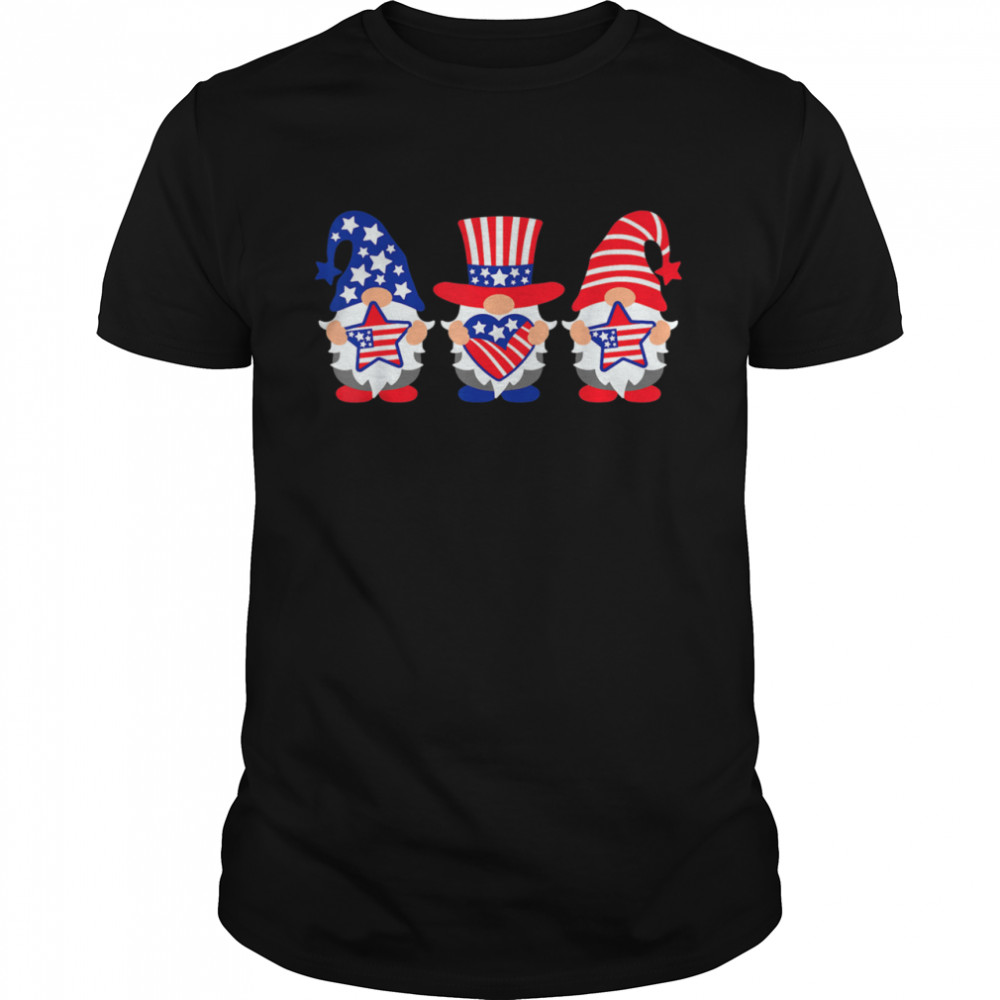 Three Gnomes 4th Of July American USA Patriotics shirt Classic Men's T-shirt