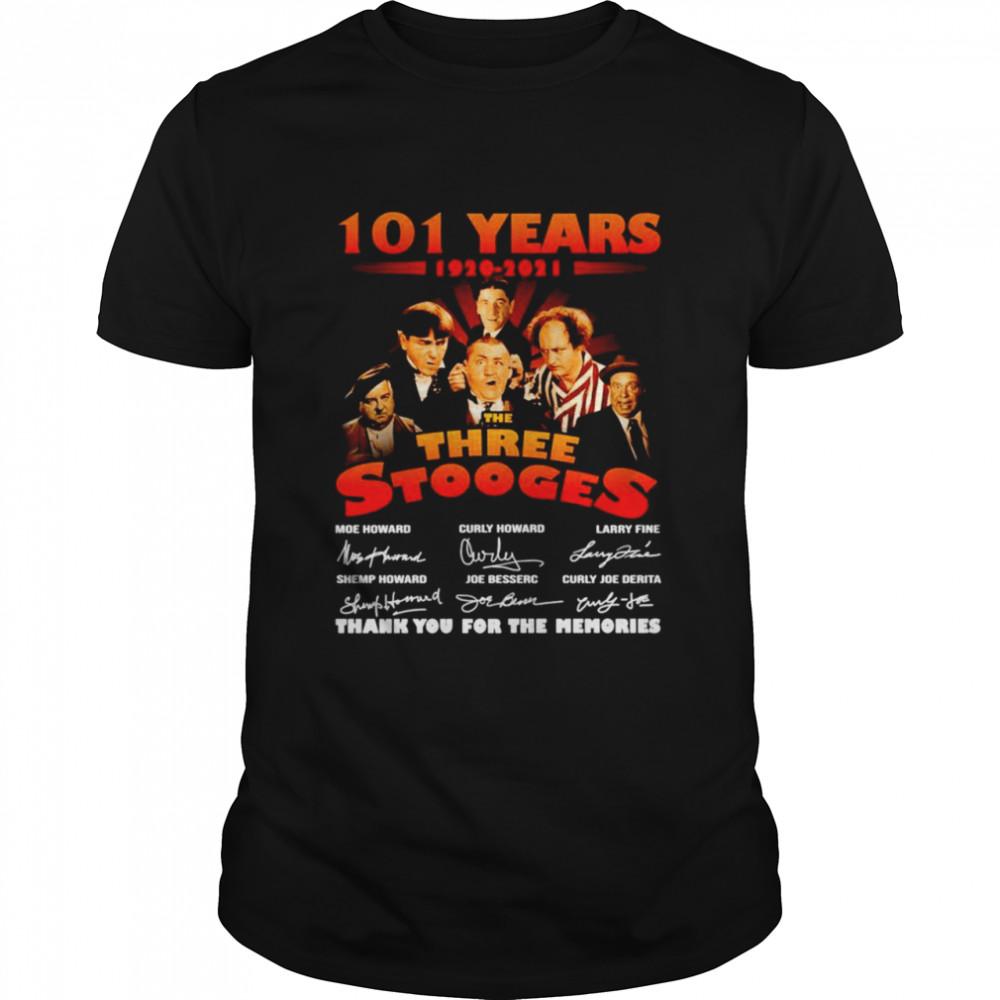 101 Years 1920-2021 The Three Stooges signatures shirt101 Years 1920-2021 The Three Stooges signatures shirt Classic Men's T-shirt