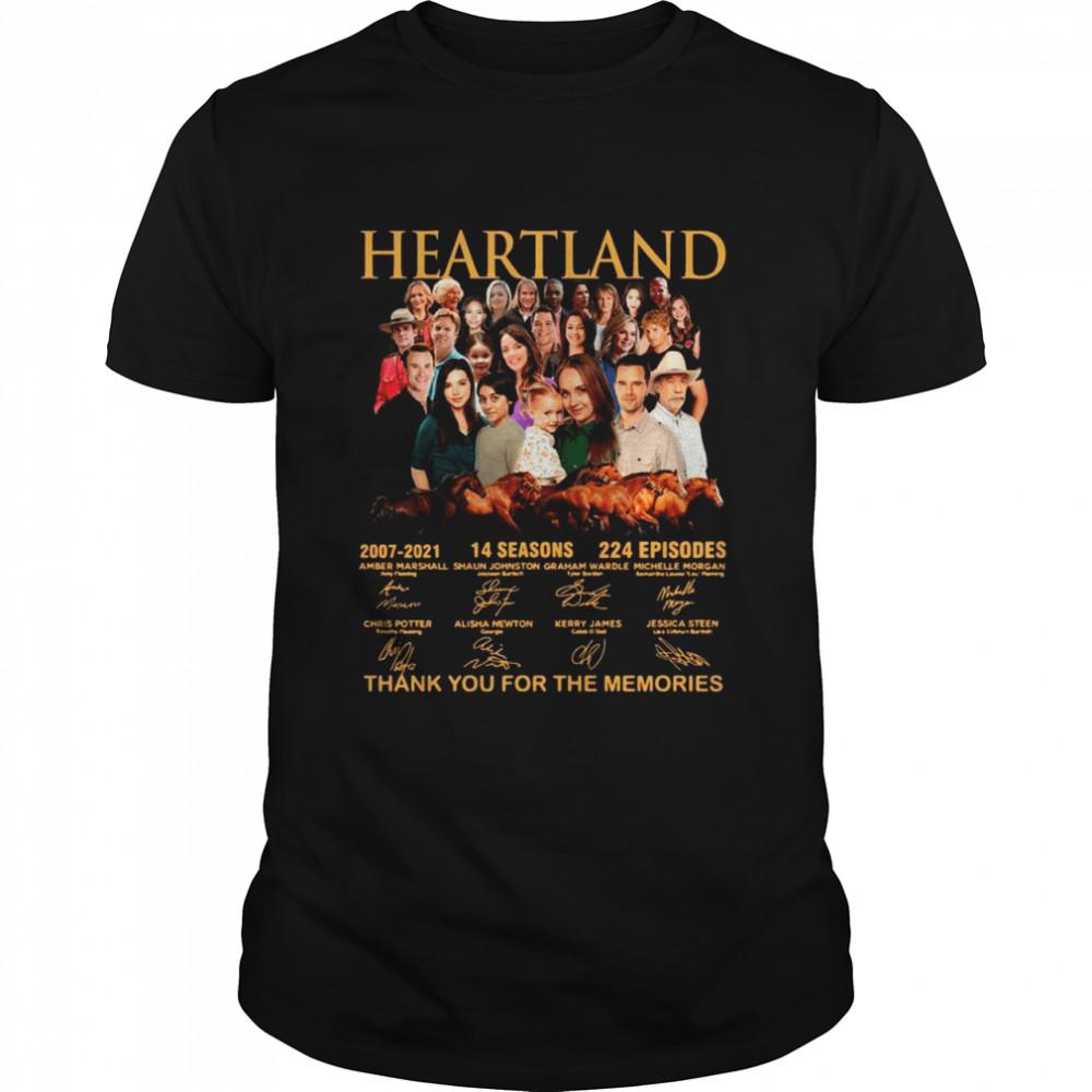 Heartland 2007 2021 14 Season 224 Episodes Thank You For The Memories Signatures shirt Classic Men's T-shirt