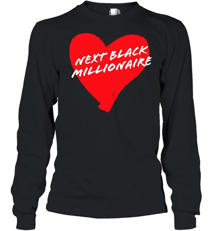 Next Black Millionaire Cool Heart  Long Sleeved T-shirt