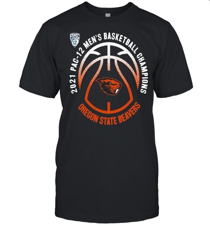 Oregon State Beavers 2021 PAC-12 men's basketball champions shirt Classic Men's T-shirt