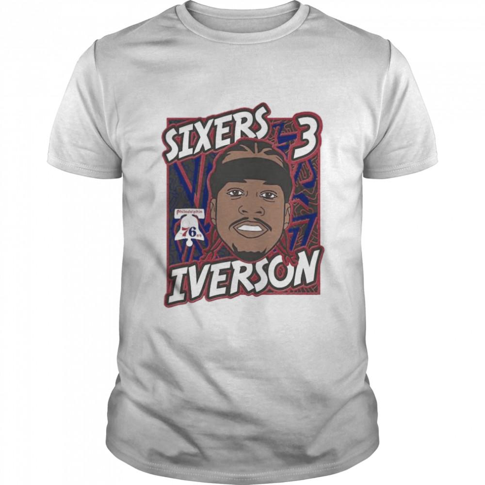 Philadelphia 76ers Allen Iverson King of the Court player shirt Classic Men's T-shirt