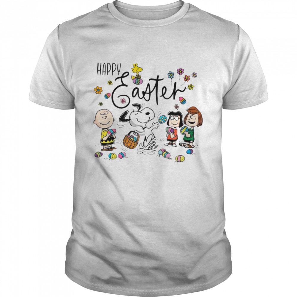 Snoopy Woodstock And Friends Happy Easter 2021 shirt Classic Men's T-shirt