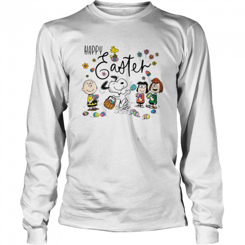 Snoopy Woodstock And Friends Happy Easter 2021 shirt Long Sleeved T-shirt