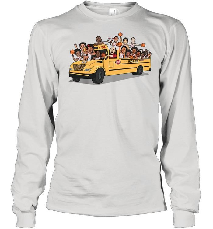 Arkansas Razorbacks Basketball Muss Bus shirt Long Sleeved T-shirt