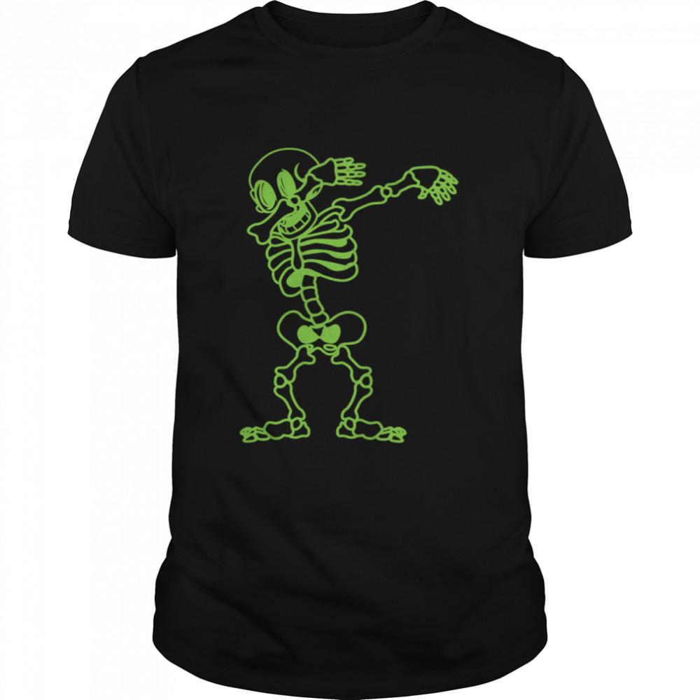Dabbing Skeleton Green Halloween Costume Skull Langarmshirt shirt Classic Men's T-shirt